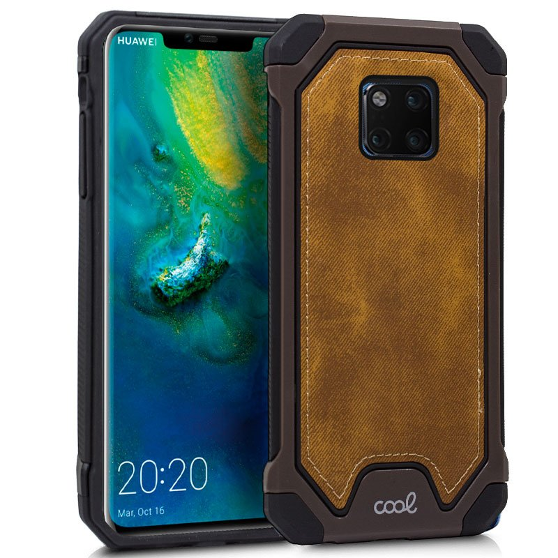 Carcasa Huawei Mate 20 Pro Hard Tela Marrón