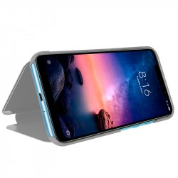 Funda Flip Cover Xiaomi Redmi Note 6 Pro Clear View Plata