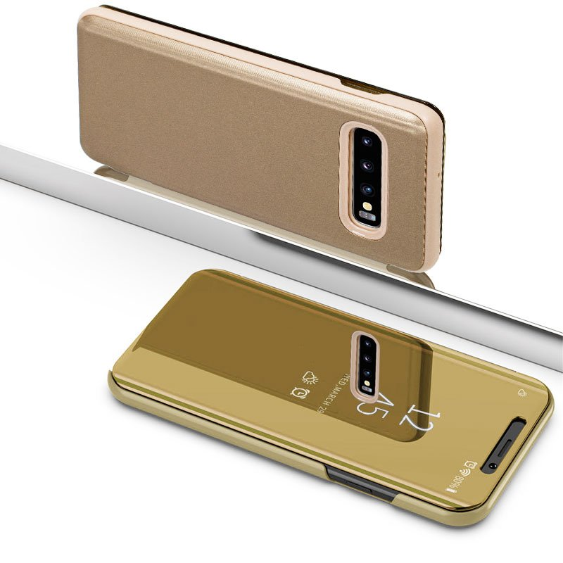 Funda Flip Cover Samsung G973 Galaxy S10 Clear View Dorado