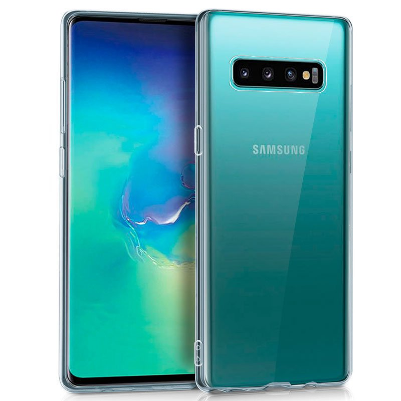 Funda Silicona Samsung G975 Galaxy S10 Plus (Transparente)