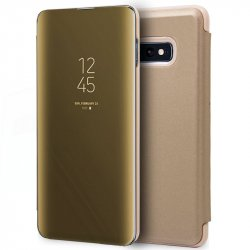 Funda Flip Cover Samsung G970 Galaxy S10e Clear View Dorado