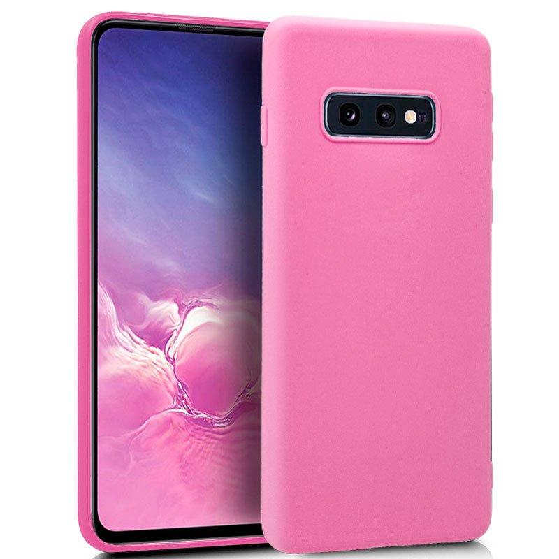 Funda Silicona Samsung G970 Galaxy S10e (Rosa)