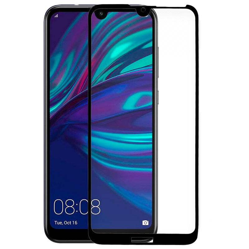 Protector Pantalla Cristal Templado COOL para Huawei Y7 (2019) (FULL 3D Negro)