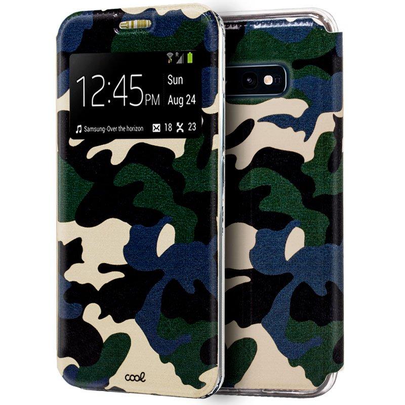 Funda Flip Cover Samsung G970 Galaxy S10e Dibujos Militar