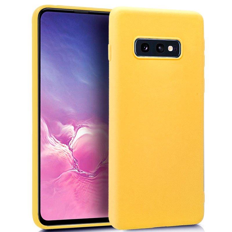 Funda Silicona Samsung G970 Galaxy S10e (Amarillo)