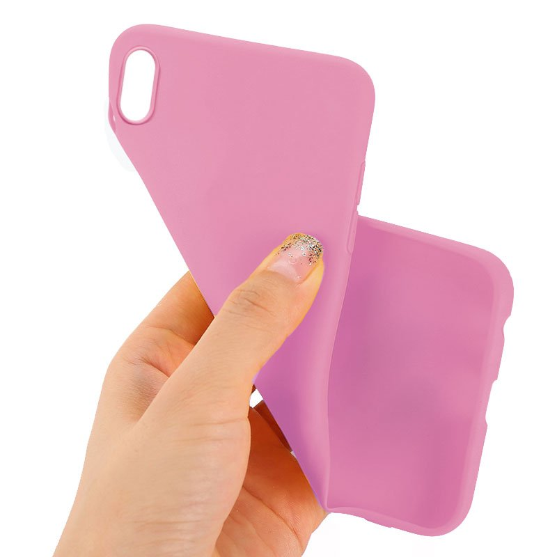 Funda Silicona iPhone XS Max (Rosa)