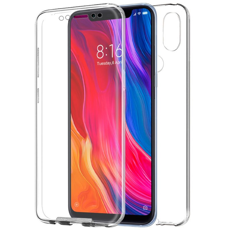 Funda Silicona 3D Xiaomi Mi 8 / Mi 8 Pro (Transparente Frontal + Trasera)