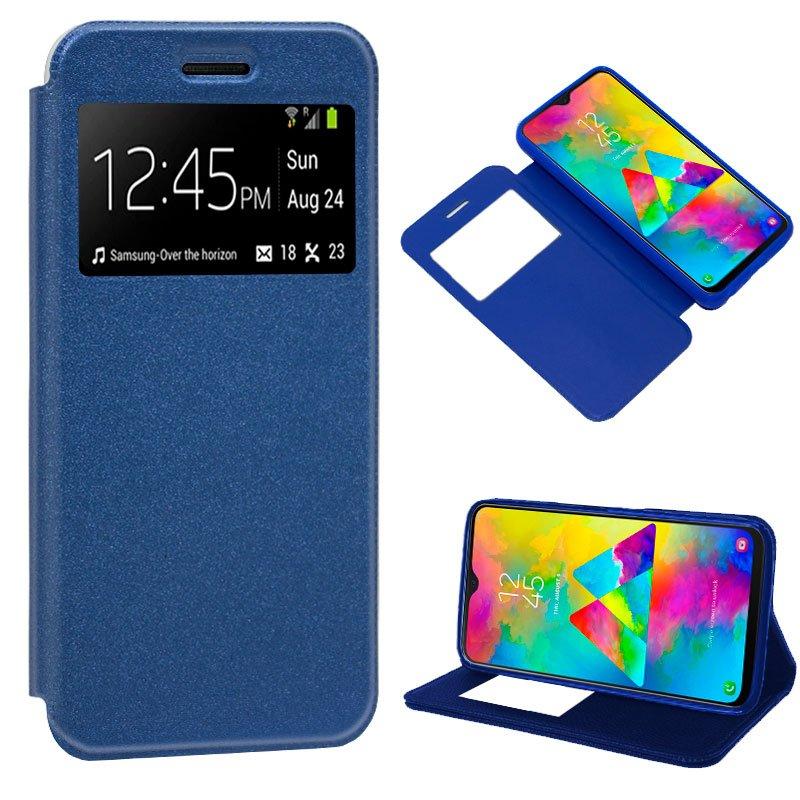 Funda Flip Cover Samsung M205 Galaxy M20 Liso Azul