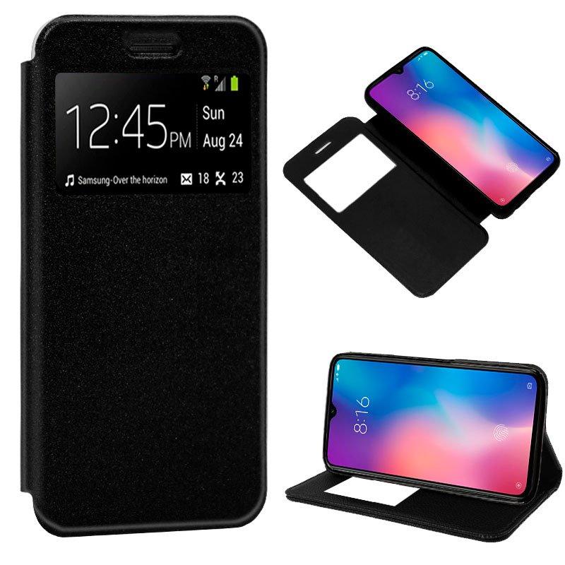 Funda Flip Cover Xiaomi Mi 9 Liso Negro