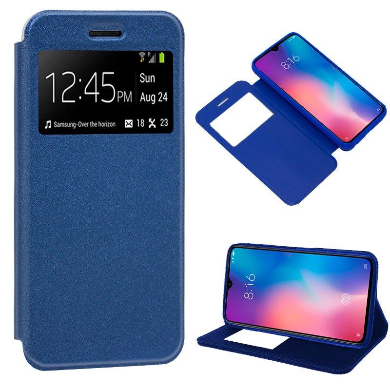 Funda Flip Cover Xiaomi Mi 9 Liso Azul