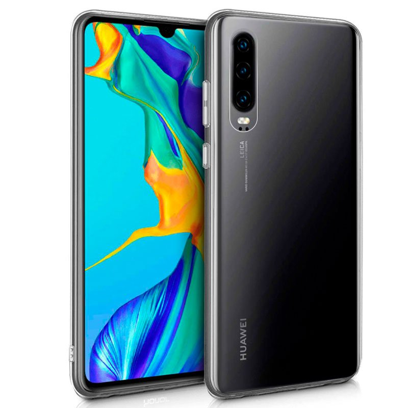 Funda Silicona Huawei P30 (Transparente)