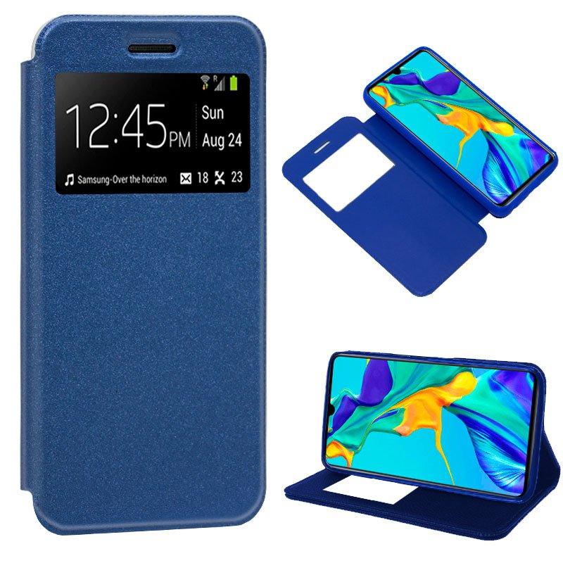 Funda Flip Cover Huawei P30 Liso Azul