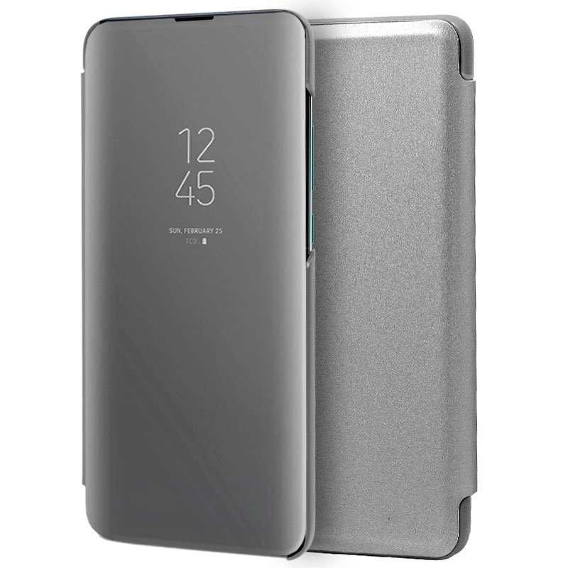 Funda Flip Cover Huawei P30 Clear View Plata