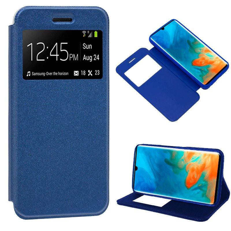 Funda Flip Cover Huawei P30 Pro Liso Azul