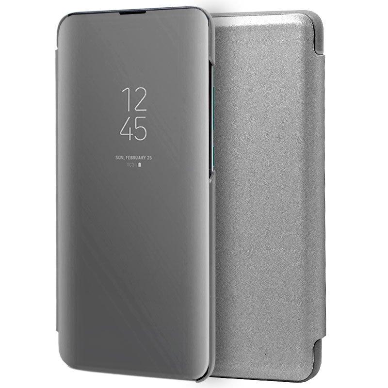 Funda Flip Cover Huawei P30 Pro Clear View Plata