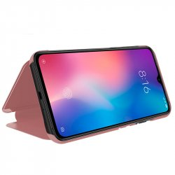 Funda Flip Cover Xiaomi Mi 9 Clear View Rosa