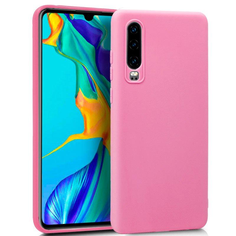 Funda Silicona Huawei P30 (Rosa)