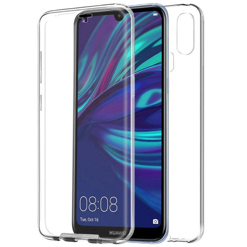 Funda Silicona 3D Huawei Y7 (2019) (Transparente Frontal + Trasera)