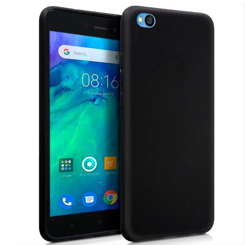 Funda Silicona Xiaomi Redmi Go (Negro)