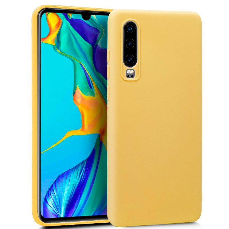 Funda Silicona Huawei P30 (Amarillo)