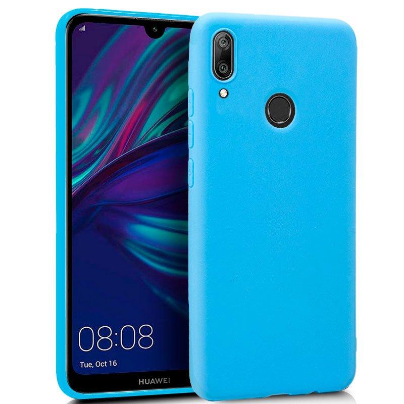 Funda Silicona Huawei Y7 (2019) Celeste