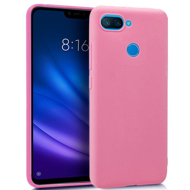 Funda Silicona Xiaomi Mi 8 Lite (Rosa)