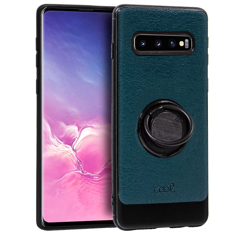 Carcasa Samsung G973 Galaxy S10 Leather Piel Verde