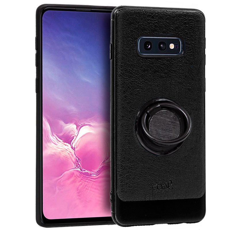 Carcasa Samsung G970 Galaxy S10e Leather Piel Negro