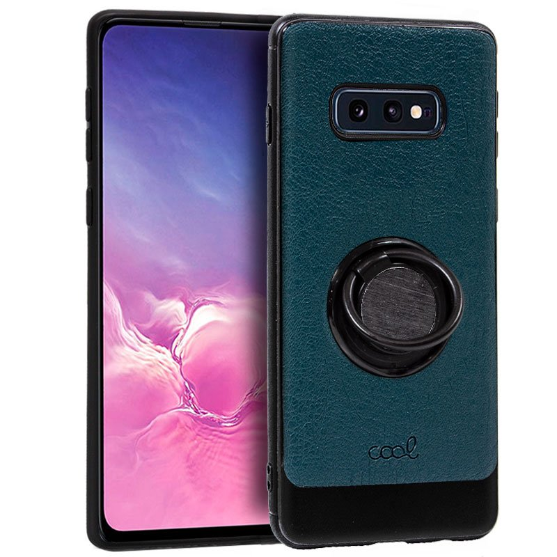 Carcasa Samsung G970 Galaxy S10e Leather Piel Verde