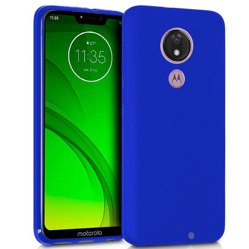Funda Silicona Motorola Moto G7 / G7 Plus (Azul)