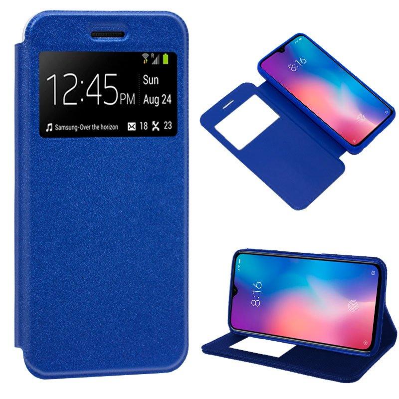 Funda Flip Cover Xiaomi Mi 9 SE Liso Azul
