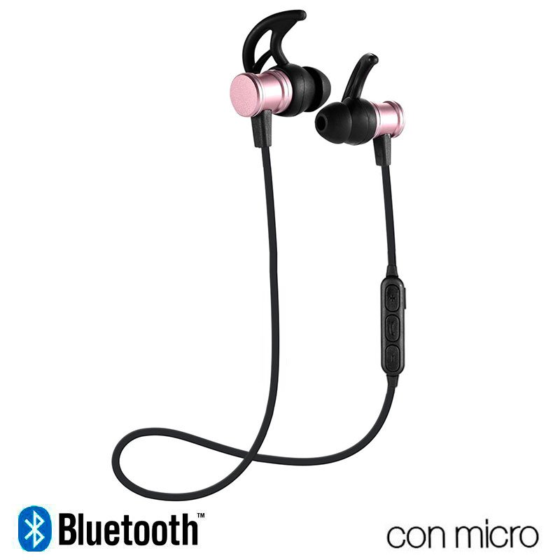 Auriculares Stereo Bluetooth Deportivos COOL Magnetic Rosa