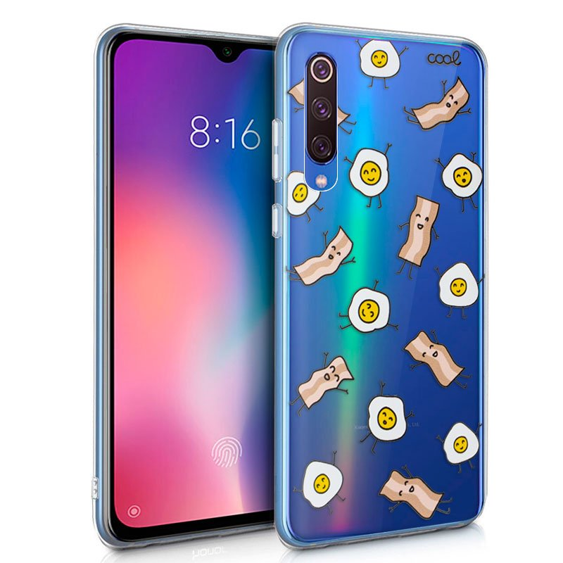 Carcasa Xiaomi Mi 9 SE Clear Bacon