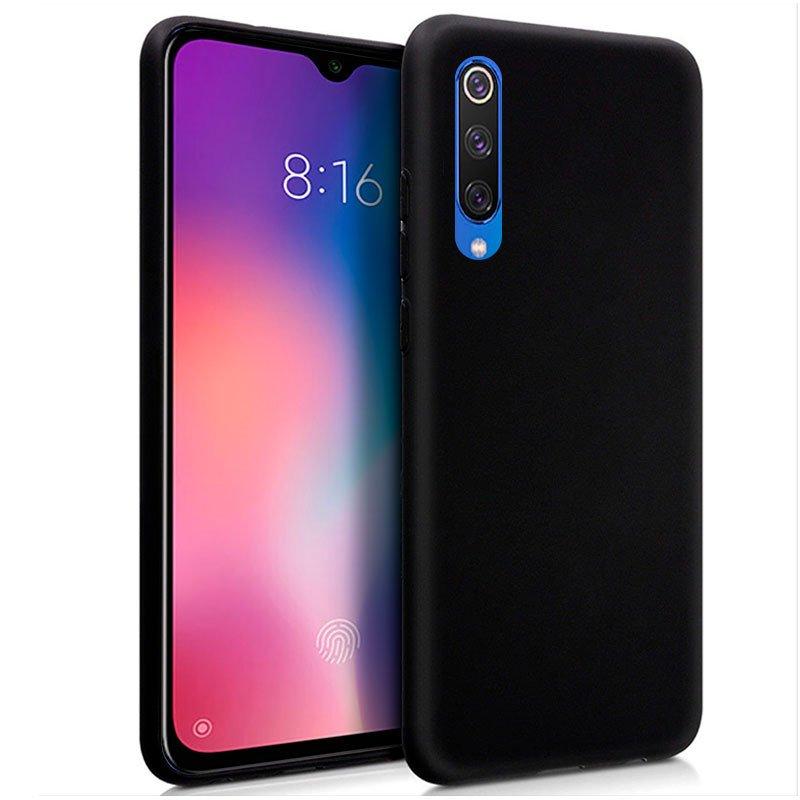 Funda Silicona Xiaomi Mi 9 SE (Negro)