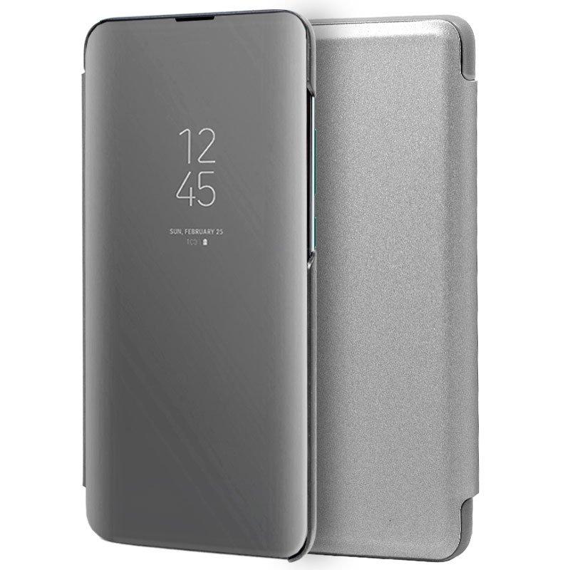 Funda Flip Cover Xiaomi Mi 9 SE Clear View Plata