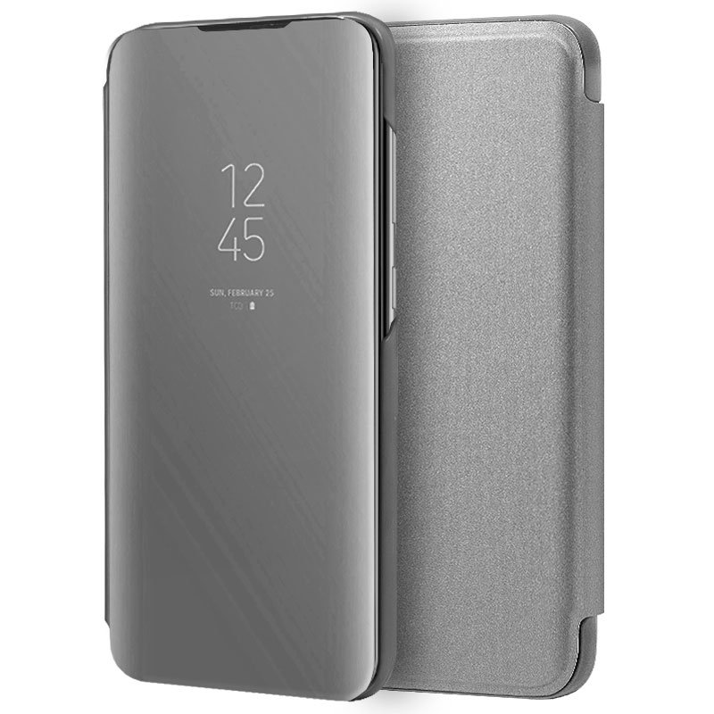 Funda Flip Cover Samsung A705 Galaxy A70 Clear View Plata