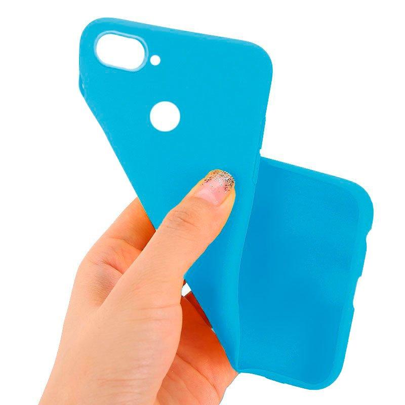 Funda Silicona Xiaomi Mi 8 Lite (Celeste)