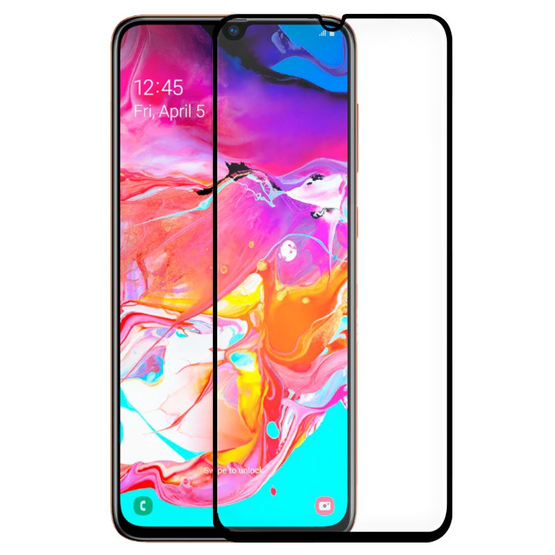 Protector Pantalla Cristal Templado Samsung A705 Galaxy A70 (FULL 3D Negro)