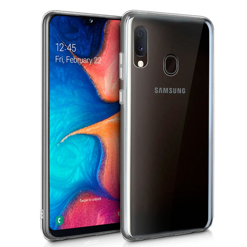 Funda Silicona Samsung A202 Galaxy A20e (Transparente)