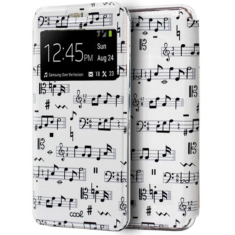 Funda Flip Cover Xiaomi Mi 9 SE Dibujos Música