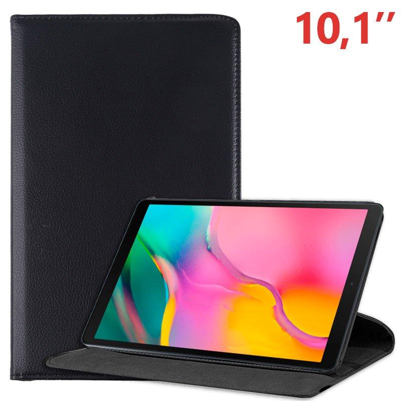 Funda Samsung Galaxy Tab A (2019) T510 / T515 Polipiel Liso Negro 10.1 pulg
