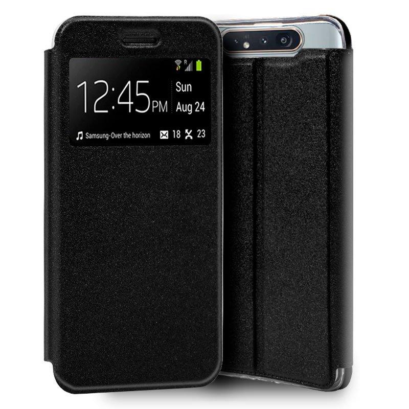 Funda Flip Cover Samsung A805 Galaxy A80 Liso Negro