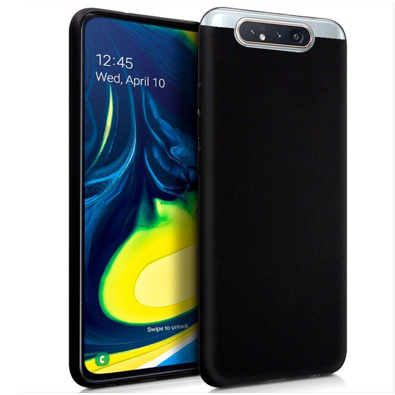 Funda Silicona Samsung A805 Galaxy A80 (Negro)