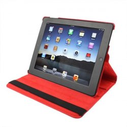 Funda iPad 2 / iPad 3 / 4 Giratoria Polipiel color Rojo (Soporte)