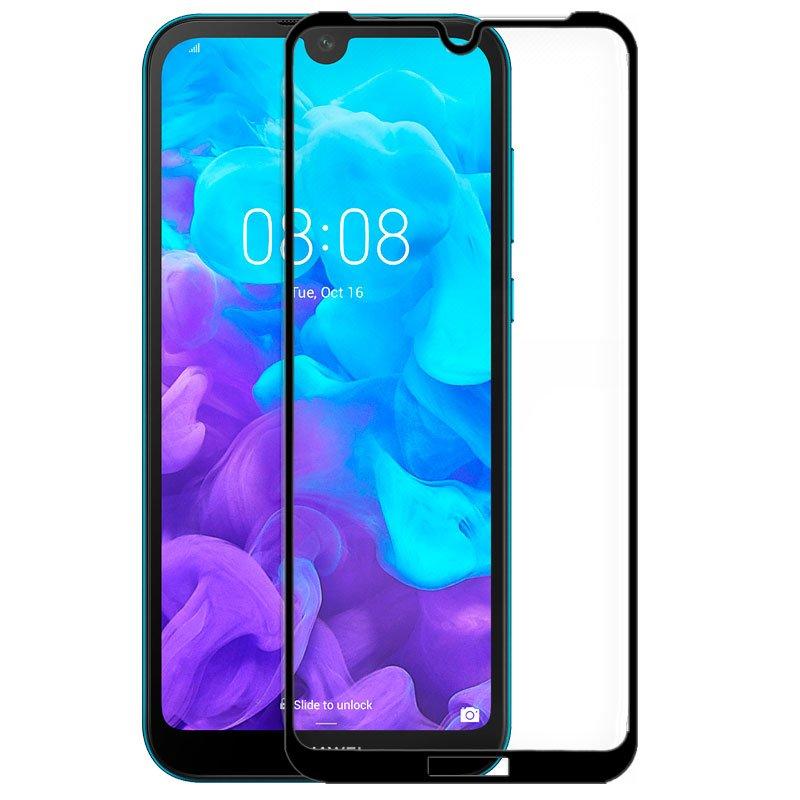 Protector Pantalla Cristal Templado COOL para Huawei Y5 (2019) FULL 3D Negro