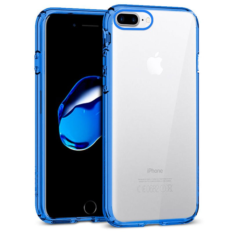 Carcasa iPhone 7 Plus / iPhone 8 Plus Borde Metalizado (Azul)