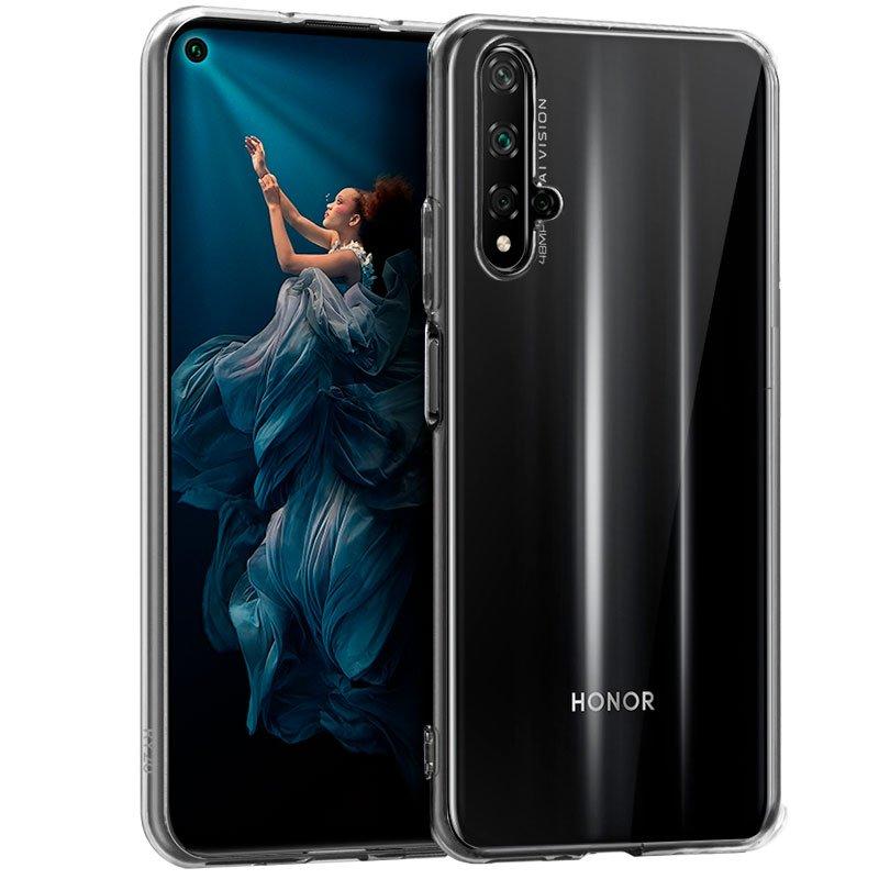 Funda Silicona Huawei Nova 5T / Honor 20 (Transparente)