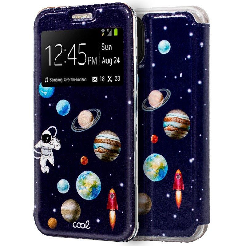 Funda Flip Cover iPhone 11 Dibujos Astronauta