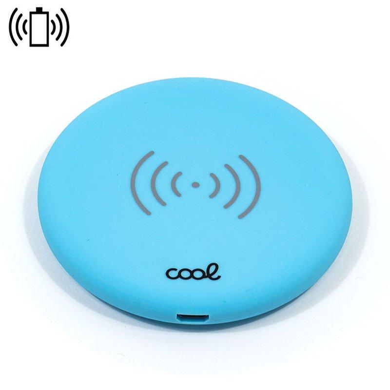 Dock Base Cargador Smartphones Inalámbrico Qi Universal COOL Azul
