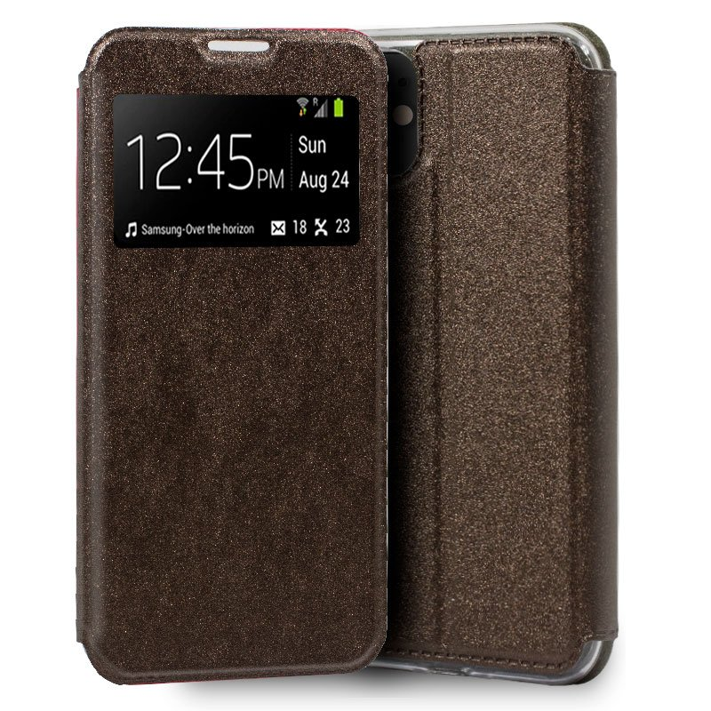 Funda Flip Cover iPhone 11 Liso Bronce